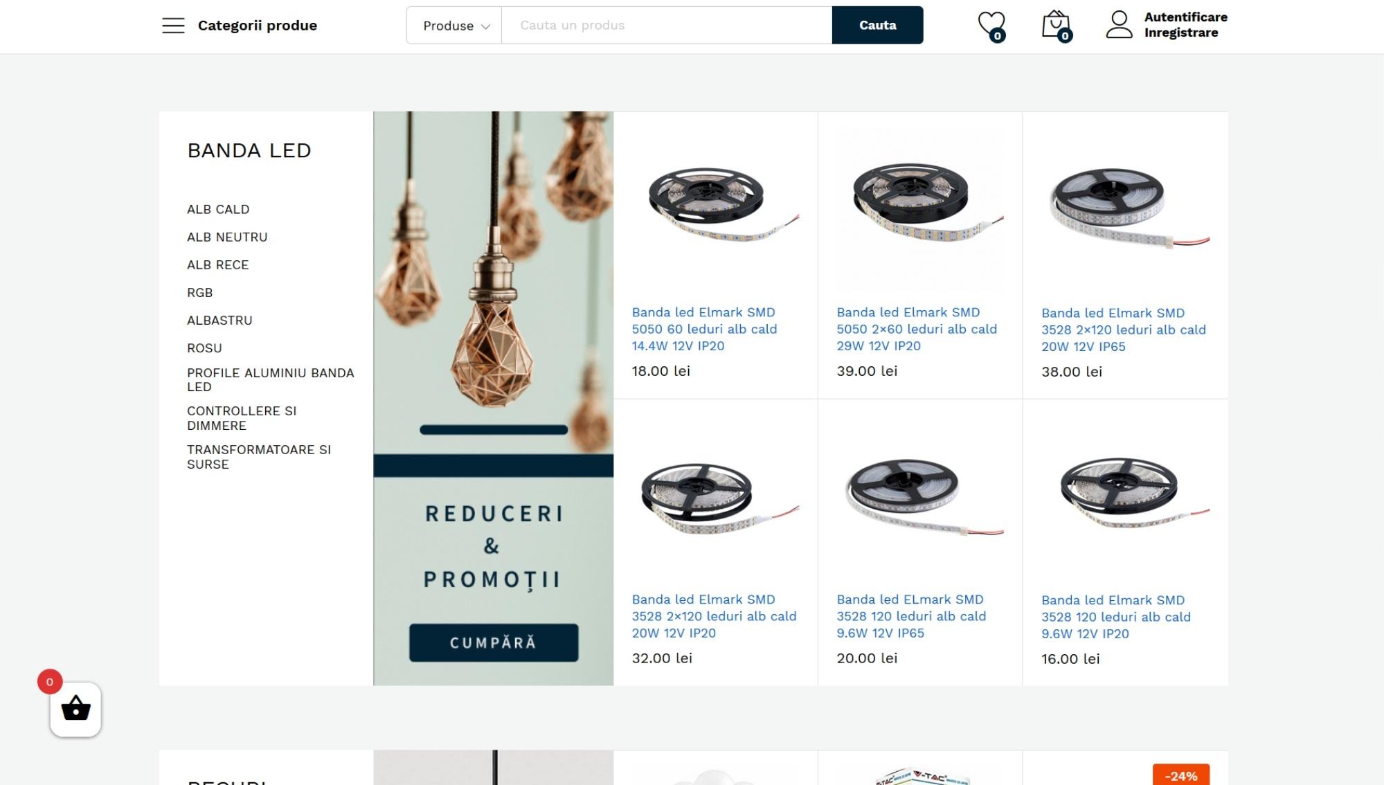 filtrare categorii magazin online