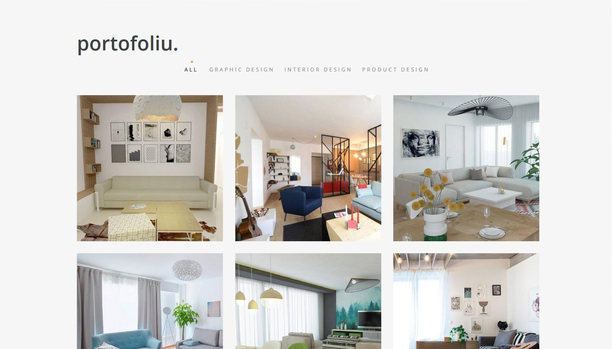 portofoliu site web