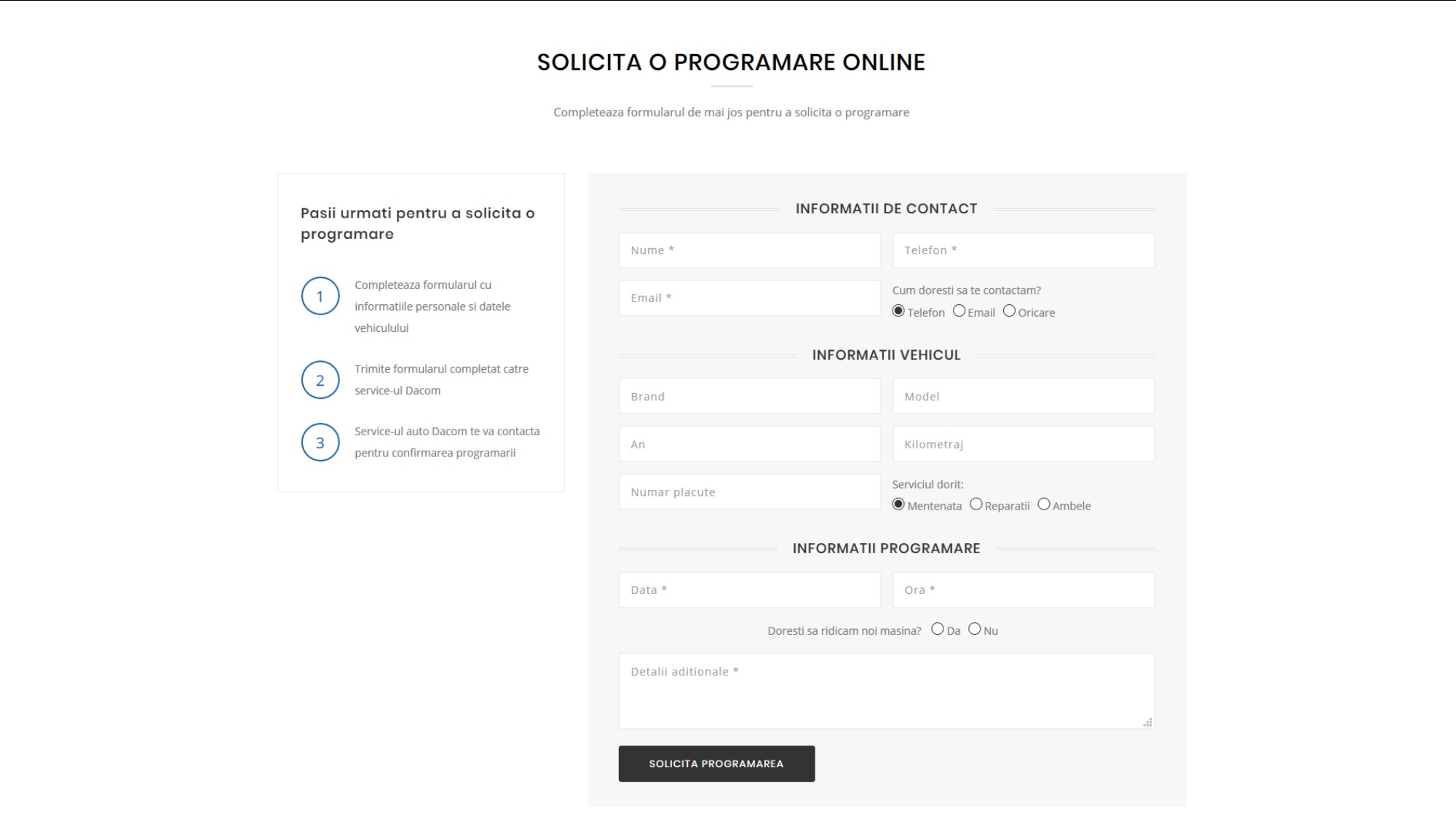programari online service